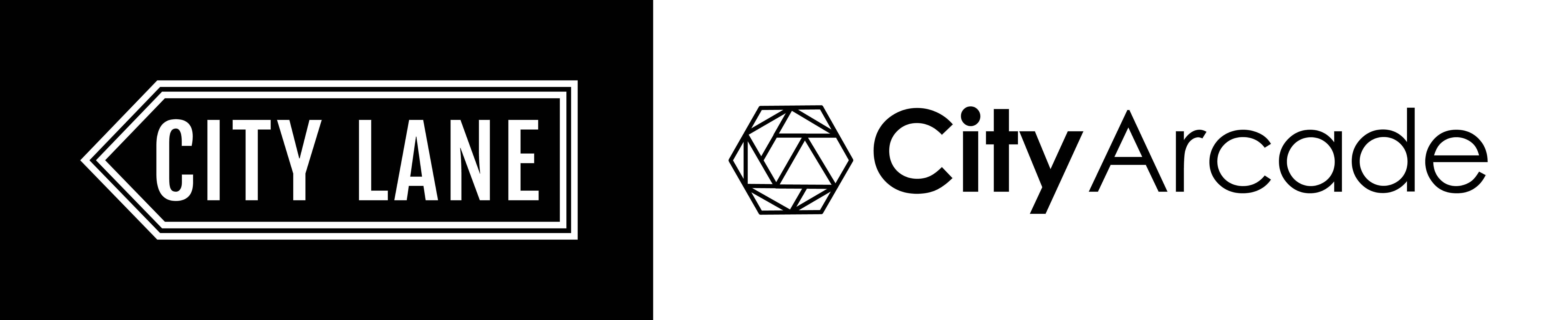 City Lane City Arcade Co Branding Logo Design 2016_Landscape_MONO_[H]
